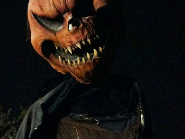 Haunted Trail creepy pumpkin